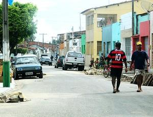 Jorbison Alagoas cidade (Foto: Janir Junior / GLOBOESPORTE.COM)