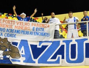 torcida Cruzeiro na Arena da Floresta (Foto: Marco Antônio Astoni/Globoesporte.com)