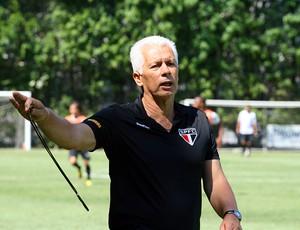 Leão no treino do São Paulo (Foto: Anderson Rodrigues/Globoesporte.com)