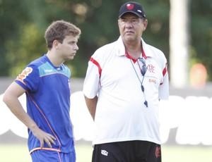 Thomás e Joel - Treino Flamengo (Foto: André Portugal / Vipcomm)
