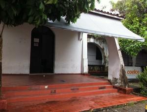Antiga sede do Maguary. Atualmente pertence a Faelce 2 (Foto: Luana Andrade/ Globoesporte.com)