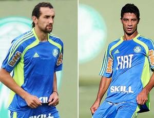Barcos e Ricardo Bueno do Palmeiras (Foto: Editoria de Arte / Globoesporte.com)