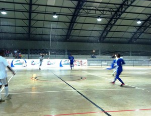 Araguari ATC x Tupaciguara pela segunda rodada da Copa Integração de Futsal (Foto: Graciele Soares)