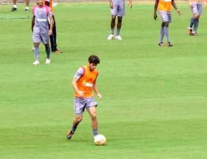 Juninho Pernambucano no treino do Vasco (Foto: Rafael Cavalieri / GLOBOESPORTE.COM)