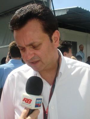 Prefeito Gilberto Kassab em Interlagos