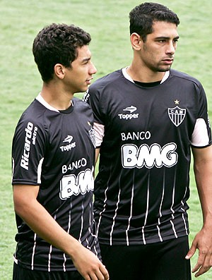 Renan Oliveira e Diego Souza no treino do Atlético-MG