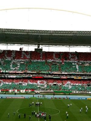 mosaico fluminense engenhão (Foto: Thiago Lavinas / Globoesporte.com)