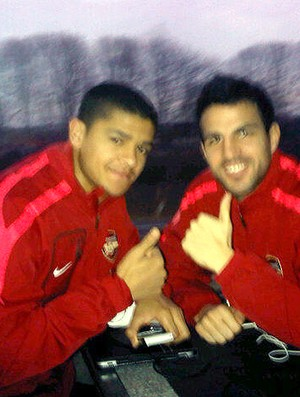 Denilson e Fabregas do Arsenal