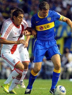 Palermo na partida do Boca Juniors contra o River Plate (Foto: Reprodução / Olé)