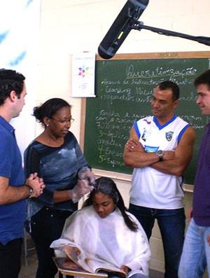 Bastidores da gravação do Futebol Social Clube