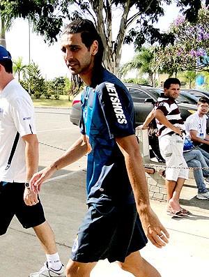 Leandro Guerreiro no treino do Cruzeiro (Foto: Fernando Martins / Globoesporte.com)