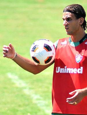 Rafael Moura no treino do Fluminense (Foto: Agência Photocâmera)