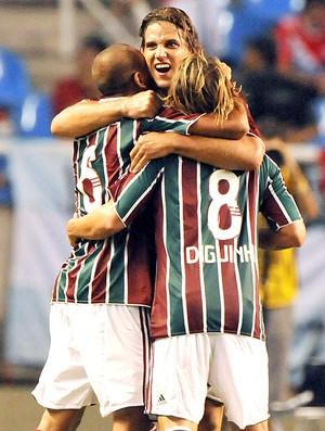Rafael Moura no jogo do Fluminense (Foto: Agência Photocâmera)