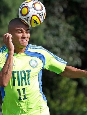 Maurício Ramos no treino do Palmeiras (Foto: Ag. Estado)