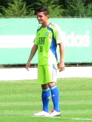 Miguel no treino do Palmeiras (Foto: Diego Ribeiro / GLOBOESPORTE.COM)