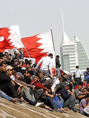protestos no Bahrein envolvendo a Fórmula 1 (Foto: Reuters)