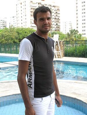 Rafael, goleiro do Fluminense, durante entrevista (Foto: Cahê Mota / GLOBOESPORTE.COM)