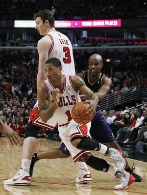 Derrick Rose, armador do Chicago Bulls (Foto: ap)