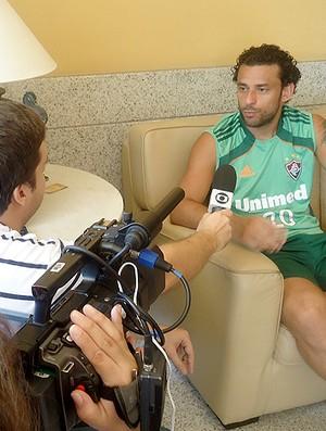 Fred entrevista Fluminense (Foto: Roberta Setimi / Globoesporte.com)