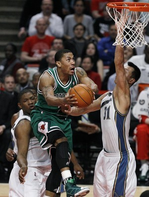 Derrick Rose, armador do Chicago Bulls (Foto: AP)