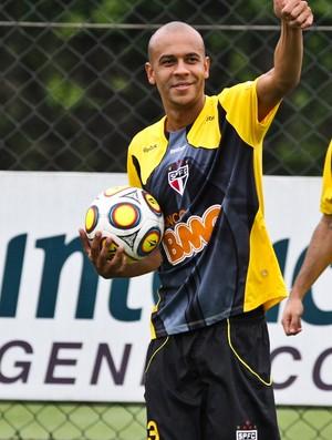 Alex Silva no treino do São Paulo (Foto: Luiz Pires / VIPCOMM)