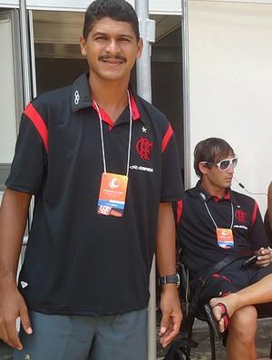 atacante André, do Flamengo, do Mundialito de Futebol de Areia (Foto: Igor Christ / Globoesporte.com)