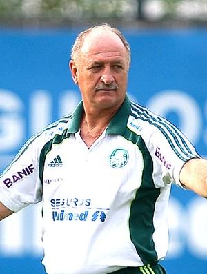 Felipão no treino do Palmeiras (Foto: Ag. Estado)
