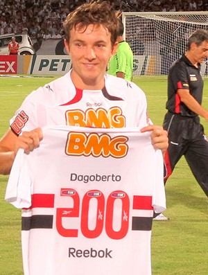 dagoberto camisa são paulo 200 jogos (Foto: Marcelo Prado / Globoesporte.com)