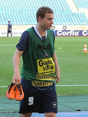 Marcelo Mattos no treino do Botafogo (Foto: Gustavo Rotstein / GLOBOESPORTE.COM)