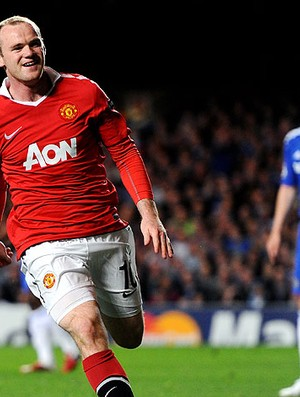 Rooney comemora gol do Manchester United contra o Chelsea (Foto: Getty Images)