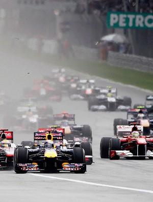 largada gp da malásia  (Foto: agência Reuters)