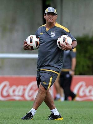 muricy ramalho santos treino (Foto: Ricardo Saibun / Site Oficial do Santos)
