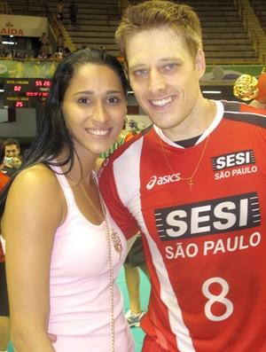 Murilo e Jaqueline (Foto: Danielle Rocha / Globoesporte.com)