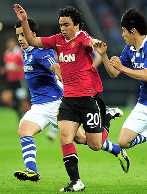 Fábio na partida do Manchester United contra o Schalke (Foto: Getty Images)