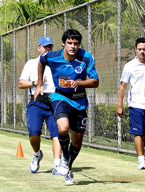 fabricio cruzeiro treino (Foto: Lucas Catta Pr&#234;ta / Globoesporte.com)