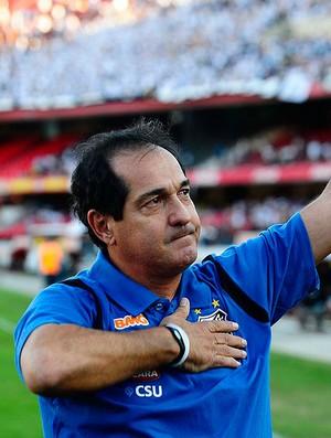 Muricy Ramalho no jogo do Santos (Foto: Marcos Ribolli / GLOBOESPORTE.COM)