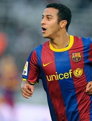Thiago Alcantara comemora gol do Barcelona contra o Real Sociedad (Foto: Reuters)