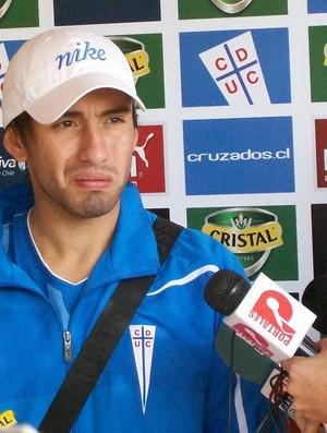 Cañete, jogador do Universidad Católica (Foto: Eduardo Cecconi/Globoesporte.com)