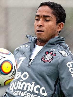 Jorge Henrique no treino do Corinthians (Foto: Ag. Estado)