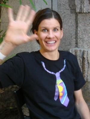 Stacy Sykora recebe alta no hospital (Foto: Mariana Maziero / Globoesporte.com)