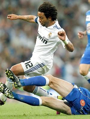 Marcelo na partida do Real Madrid contra o Getafe (Foto: Reuters)