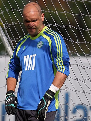 Marcos no treino do Palmeiras (Foto: Robson Fernandes / Ag. Estado)