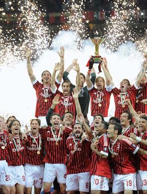 festa milan campeão italiano (Foto: agência AFP)