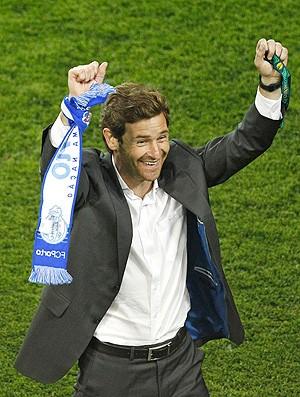 Andre Villas Boas comemora título do Porto na Liga Europa (Foto: AP)