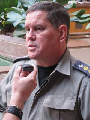 CORONEL AMARILDO GUERRA  COMANDADA NA POLÍCIA MILITAR DE GOIÂNIA (Foto: Marcio Iannaca/Globoesporte.com)