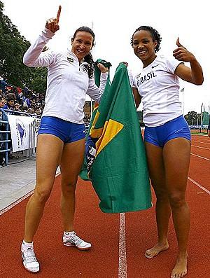 Maurren Maggi e Keila Costa fazem dobradinha brasileiro no salto em distância (Foto: Wagner Carmo / CBAt)