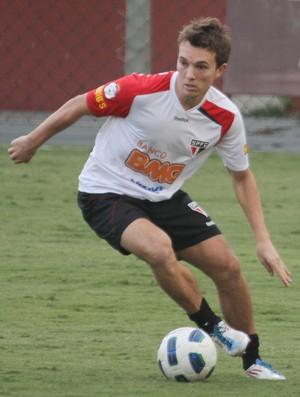 Dagoberto em treino do São Paulo (Foto: Luiz Pires / VIPCOMM)