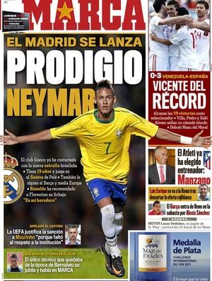 Capa do Marca com Neymar (Foto: Marca.com)
