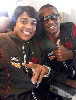 jogadores do Flamengo sub-20 na Libertadores (Foto: Thiago Barros / Fla Imagem)