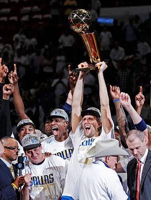 basquete nba dirk nowitzki  dallas mavericks campeão NBA (Foto: agência Reuters)
